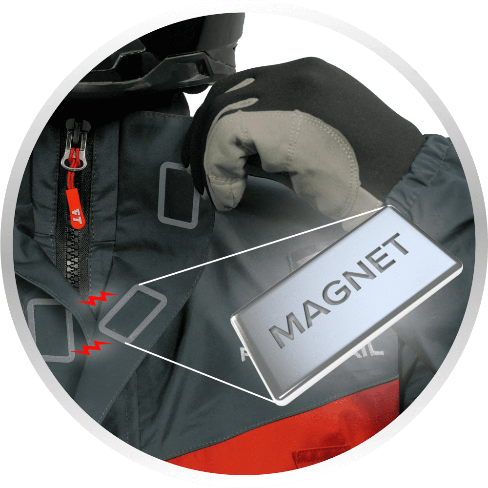 Magnetic flap